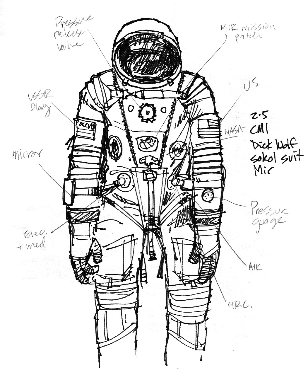 astronaut space suit drawing - photo #15